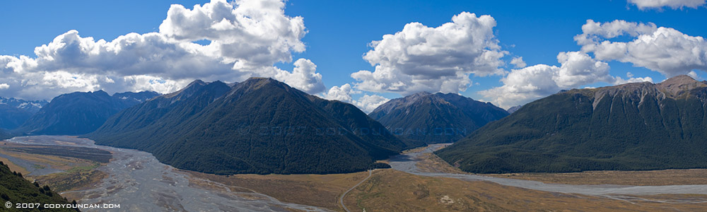 Arthurs pass panoramic