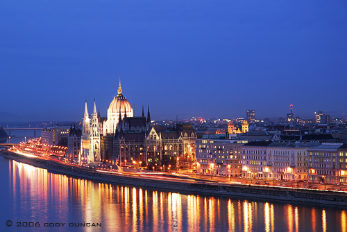 © cody duncan photography. Parliment building and Danube river, Budapest