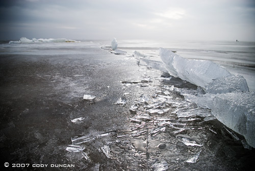 © cody duncan photography.  frozen sea ice, Curonian Spit, lithuania