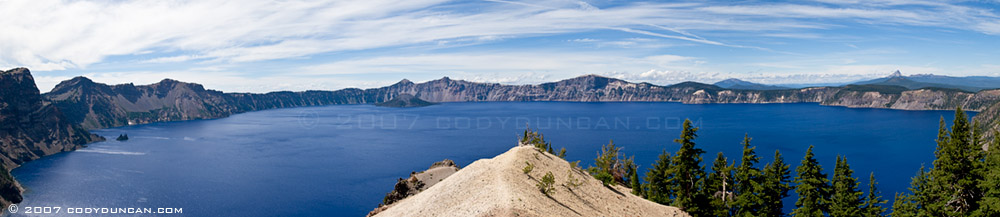 © cody duncan photography. panoramic photography of Crater lake, Oregon