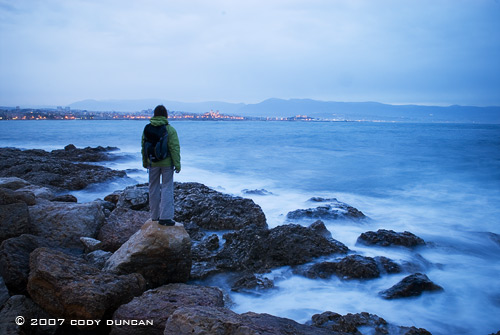 Stormy weather on Mediterranean sea near Antibes on the French Riviera. Cody Duncan Photography