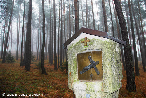 © Cody Duncan photography. Catholic monument in German forest, Bavaria