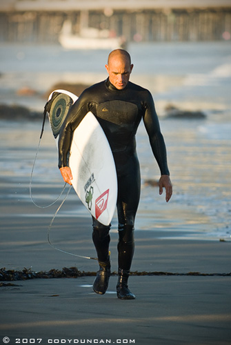 Kelly Slater at Sandspit, Santa Barbara. December 2007
