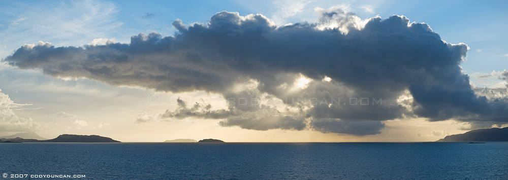 © cody duncan photography.  panoramic photograph of Firth of Lorn from southern end of Kerrera Island, Scotland