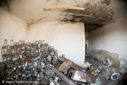 abandoned building in cesky krumlov