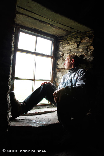 © Cody Duncan Photography. self portrait inside bothy at Rackwick bay, Hoy, Orkney, Scotland