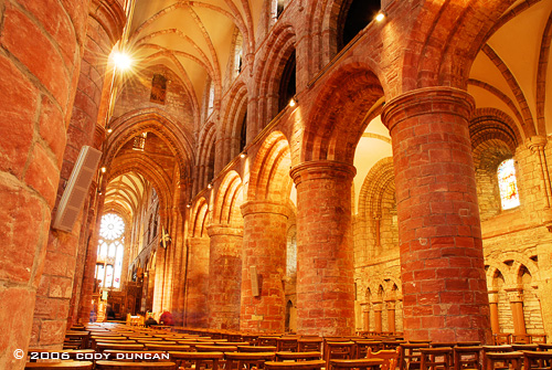 © Cody Duncan Photography.  Interior of St. Magnus Cathedral, Kirkwall, Orkney, Scotland