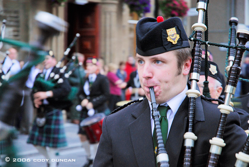 © Cody Duncan Photography.  Bagpiper in Parade, Kirkwall, Orkney, Scotland