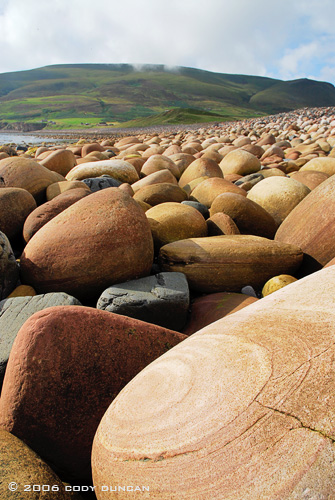© Cody Duncan Photography.  Rocky beach at Rackwick Bay, Hoy, Orkney, Scotland