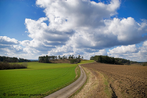© 2007 cody duncan photography.  German farm field in spring
