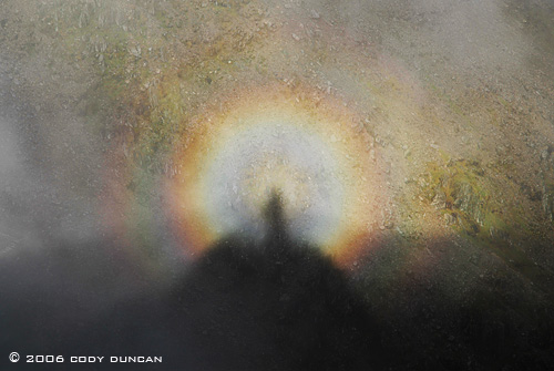 © Cody Duncan photography.  circular rainbow on top of Snowdon, Snowdonia, Wales