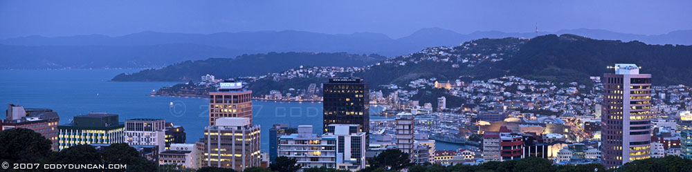 Panoramic photograph of Wellington, New Zealand