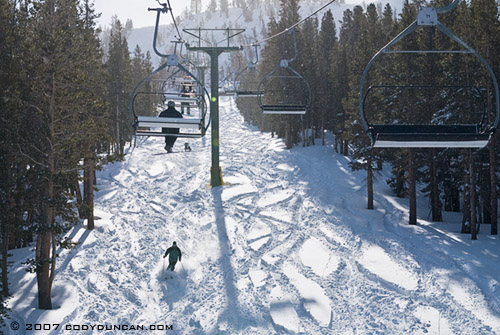 © cody duncan photography. Ski lift at June moutain