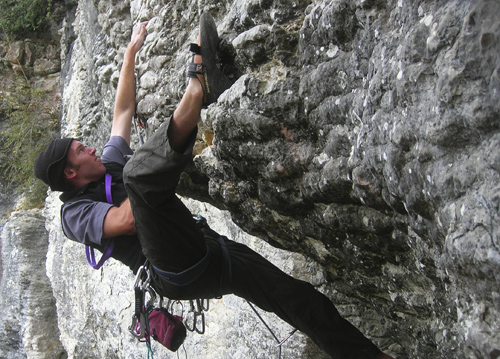 Rock climbing in Golden Bay, New Zealand
