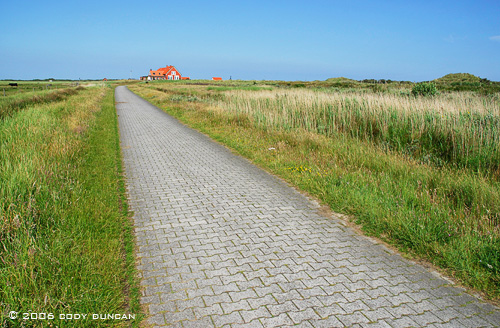 Bikepath to restaurant at Bil on the island of Juist, Germany. © Cody Duncan Photography