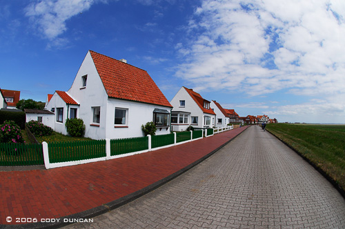 houses on island of Juist, Germany.  © Cody Duncan Photography