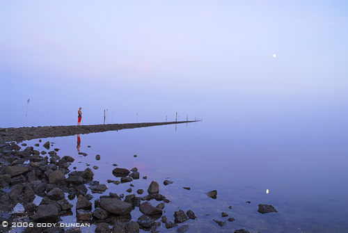 Reflection in wadden sea, wattenmeer, harbor during low tide, Juist, Germany. © Cody Duncan Photography