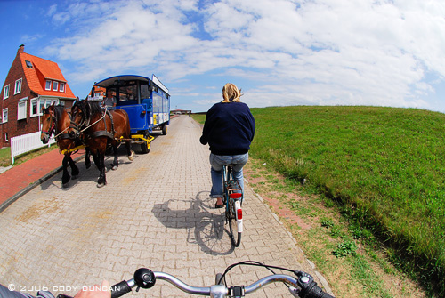 Riding bicycles on island of Juist, Germany. © Cody Duncan photography