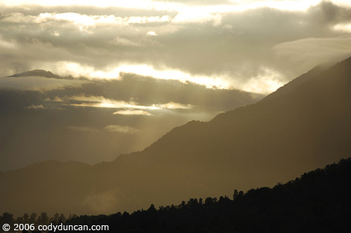 Morning light over mountains of Haast pass, New Zealand.  © Cody Duncan Photography