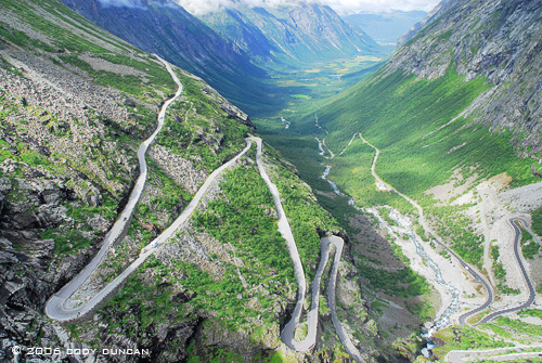 Twisting road at the Trollstigen, Norway. © Cody Duncan Photography