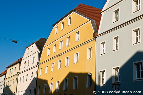 German travel photography: colorful architecture in Regensburg. © Cody Duncan Photography