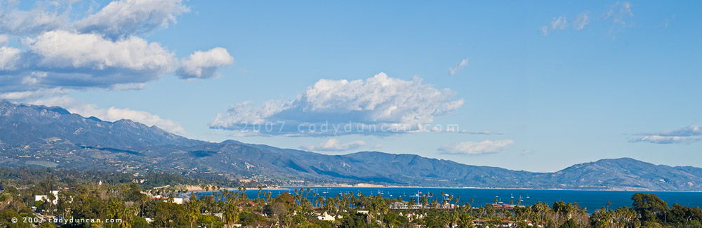 panoramic photograph of Santa Barbara, California. © Cody Duncan Photography