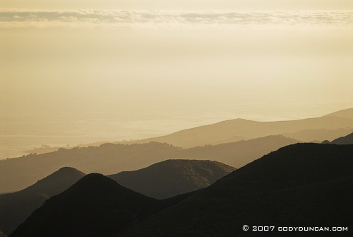 Cody Duncan Stock Photography: gaviota coast north of Santa Barbara and smoke from Zaca Fire, 2007. © Cody Duncan photography