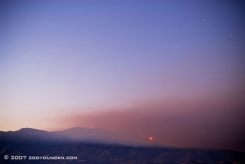 Cody Duncan Stock Photography: Smoke rising over Santa Ynez valley from Zaca fire, 2007 . © Cody Duncan photography