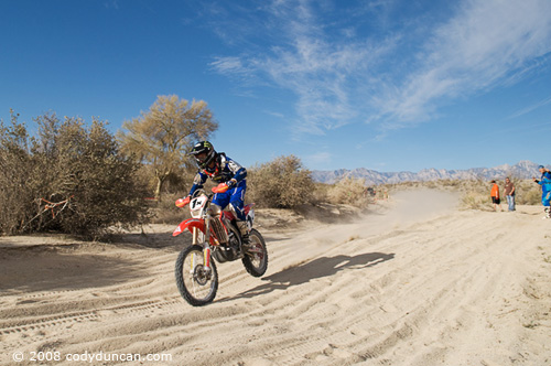 1x Honda Factory Rider Johnny Campbell 2008 San Felipe Baja 250. © Cody Duncan Photography