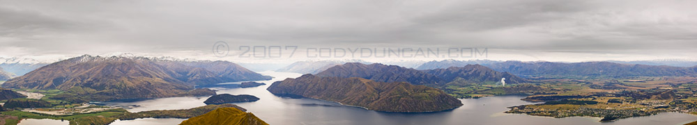 Cody Duncan Stock Photo: Panoramic landscape photograph of Lake Wanaka, New Zealand. © Cody Duncan Photography