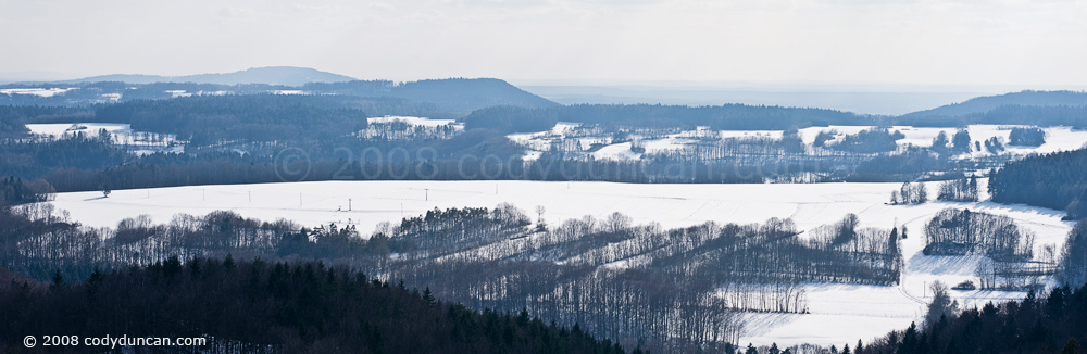Cody Duncan Stock Photography: Panoramic of winter landscape, Bavaria, Germany. © Cody Duncan Photography