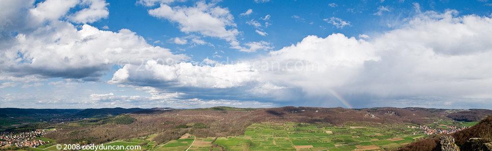 Landscape panoramic photo, Franconia, Germany. Cody Duncan travel stock photography
