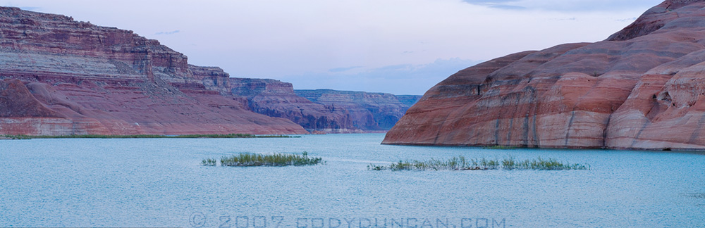 Cody Duncan Travel Photography: Lake Powell tilt-shift Panoramic. © Cody Duncan Photography