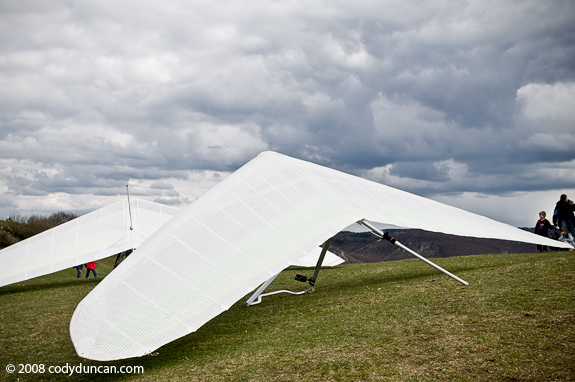 Hang gliders on hilltop in Germany. Cody Duncan travel stock photography