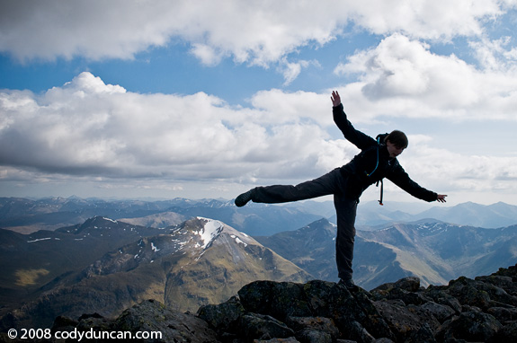 Travel stock photography: Ben Nevis summit pose, Scotland. Cody Duncan photography