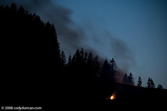 2008 Midsummer mountain fires at Maria Alm, Austria. © Cody Duncan Photography