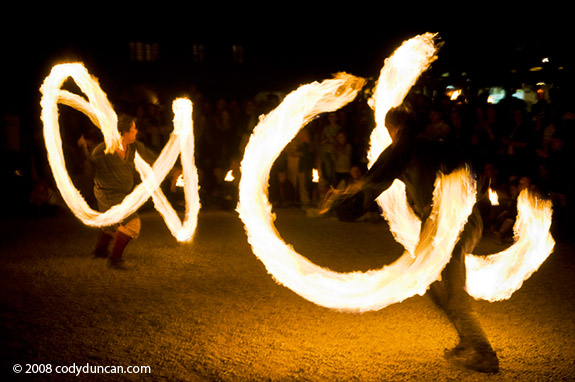 Midsummer fire, Regensburg, Germany. Cody Duncan stock photography