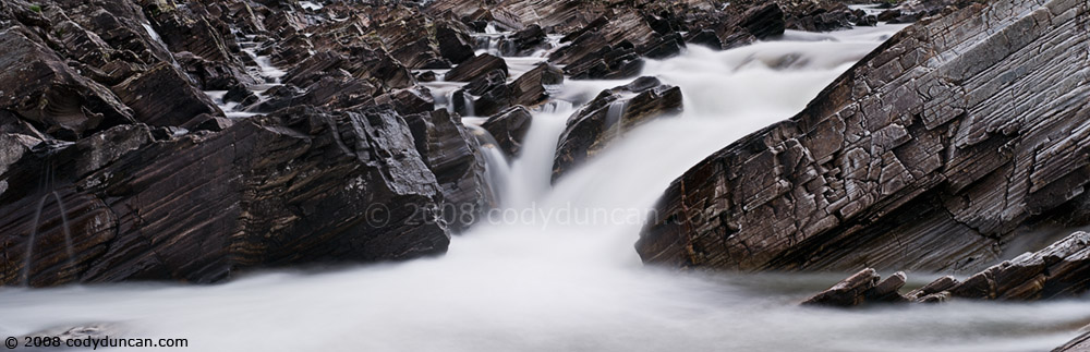 Cody Duncan stock photography: River Orchy waterfall, Glen Orchy, Scotland. © 2008 Cody Duncan