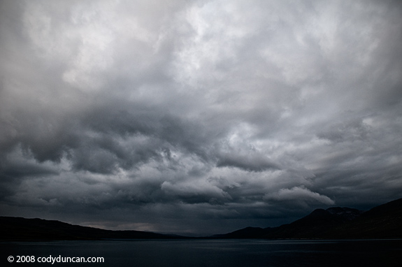 Dark stormy sky over Isle of Mull, Scotland. © Cody Duncan photography