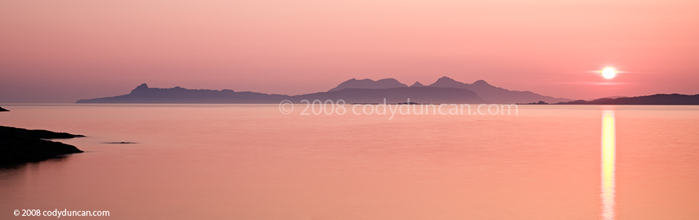 stock photo: Black Cuillins and Isle of Skye across the sound of Sleat, Scotland. Cody Duncan photography