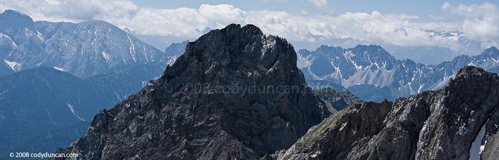 Westliche Karwendelspitze (2384m) - Mittenwalder Hoehenweg (klettersteig). Cody Duncan photography