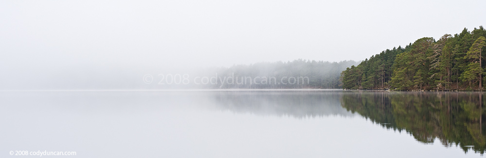 Loch Garten, Scotland. Panoramic landscape photo. Cody Duncan photography