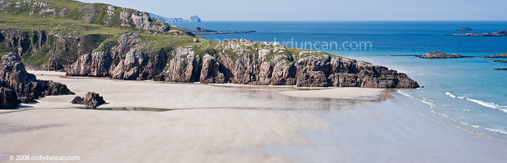 Stock Panoramic Photo: Scotland, Traigh Allt Chailgeag beach. © Cody Duncan photography