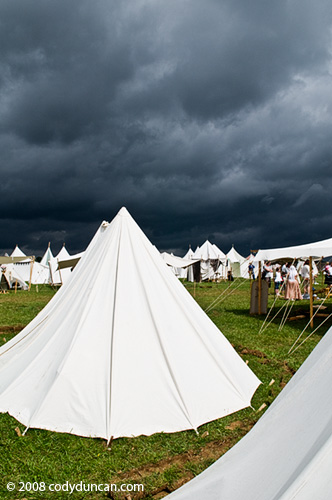 Germany Travel Photo: Tents at Medieval market and festival at Burg Rabenstein castle, Franconia, Germany. © Cody Duncan photography