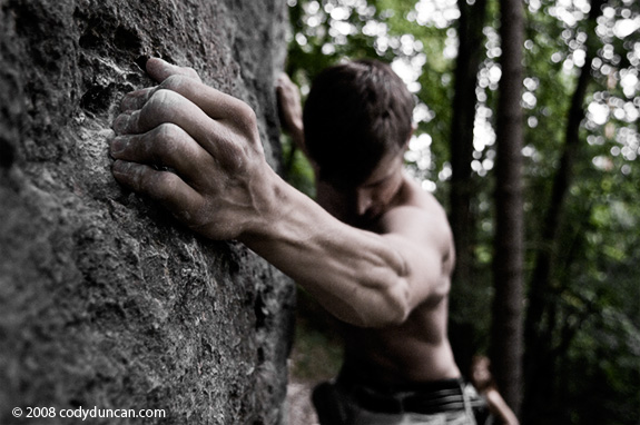 Germany rock climbing: Frankenjura - bouldering. © Cody Duncan Photography