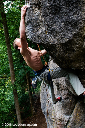 Germany rock climbing: Frankenjura - Leupoldsteiner Wand. © Cody Duncan Photography