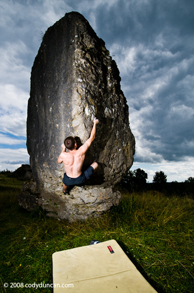 Cody Duncan photography: bouldering at Zogenreuth, Oberpfalz, Germany