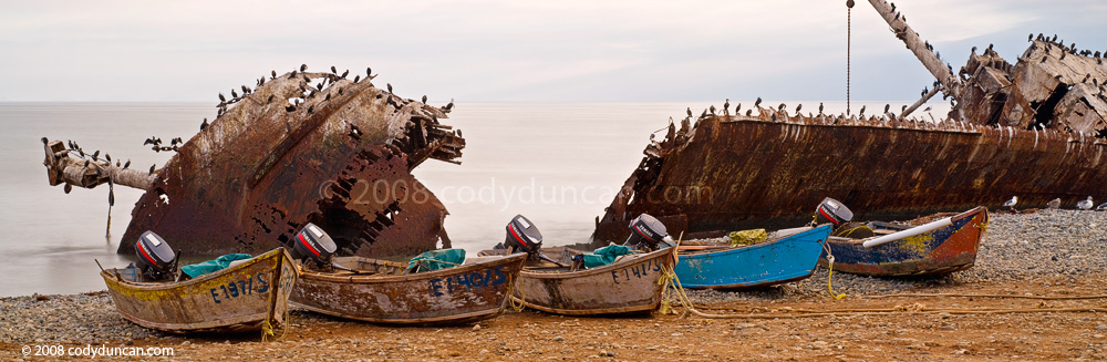 Panoramic Stock photo: Shipwreck at Punto San Jacinto, Baja California, Mexico. Cody Duncan photography