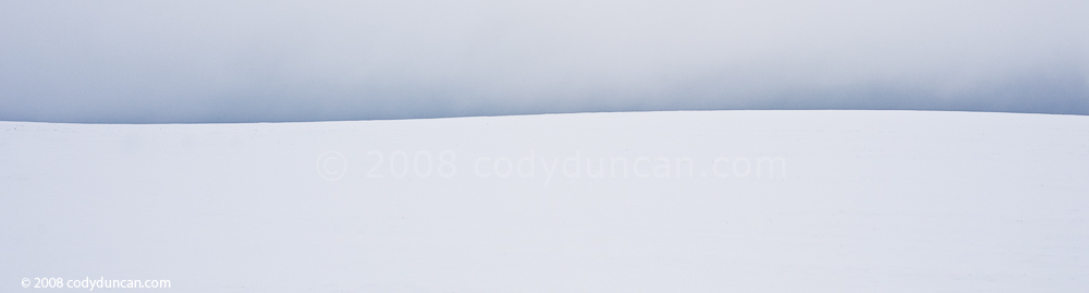 Cody Duncan stock photo: Panoramic photo of barren snowy landscape, Germany