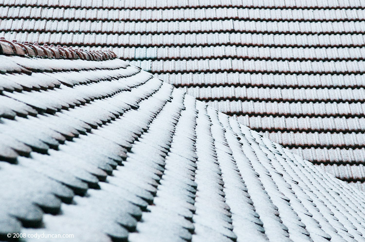 Cody Duncan stock photography:  Snow covered rooftop